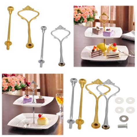 crown  tier cake cupcake plate stand handle hardware fitting holder   stands  home