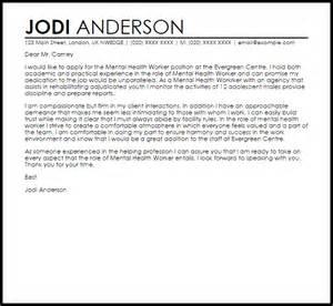 resume cover letter mental health worker mental health worker cover letter sle livecareer