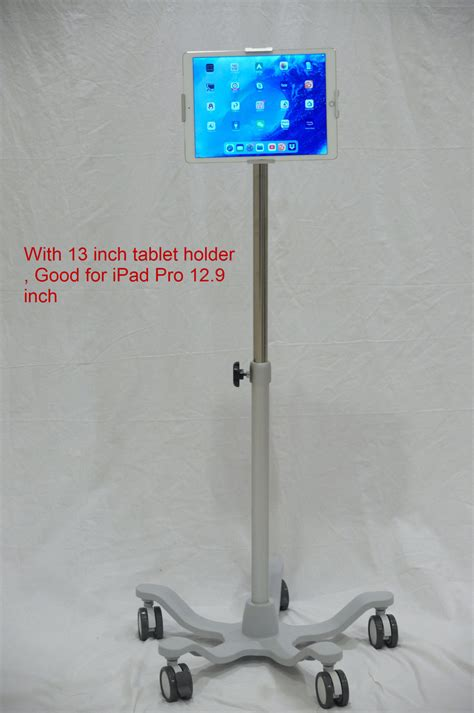 Deluxe Medical Grade Tablet iPad holder rolling roll stand