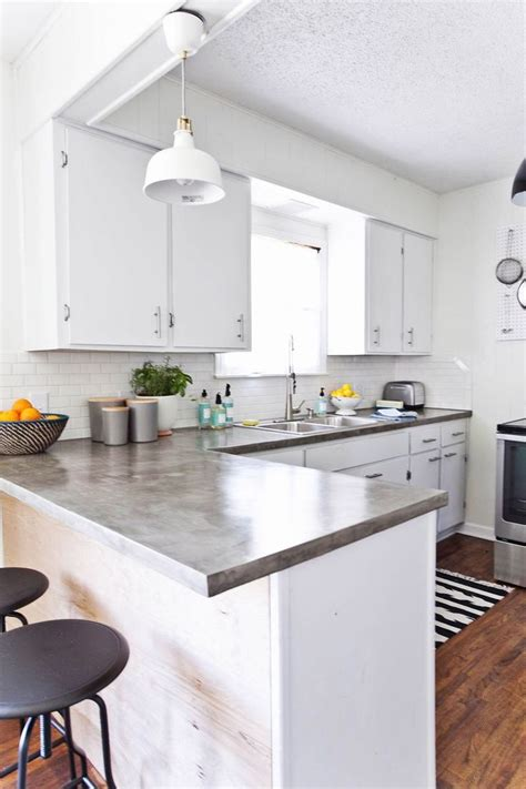 White Kitchen Countertop - the white polished concrete countertops and tops on