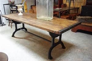 Table Industrielle Bois : table industrielle par le marchand d 39 oublis ~ Teatrodelosmanantiales.com Idées de Décoration