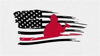 Flag Thin Line Svg American Clipart Silhouette