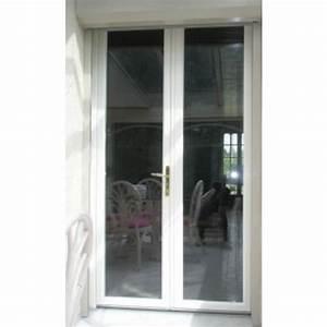 Porte fenetre h 205 cm x l 180 cm double vitrage achat for Double porte fenetre