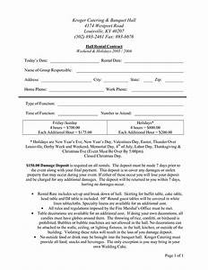 7 best images of banquet room rental agreement form With banquet hall contract template