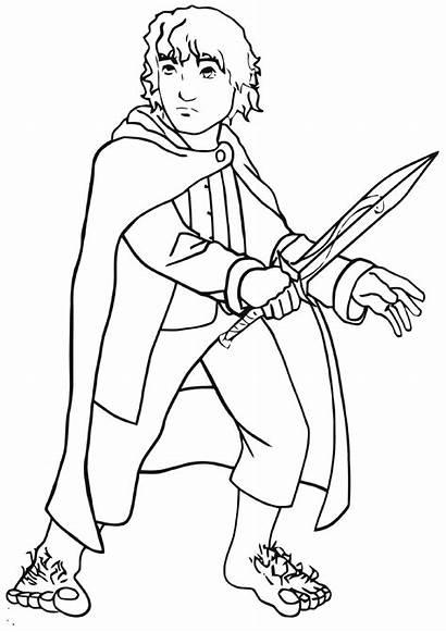 Hobbit Coloring Pages Cartoon Hobbit2