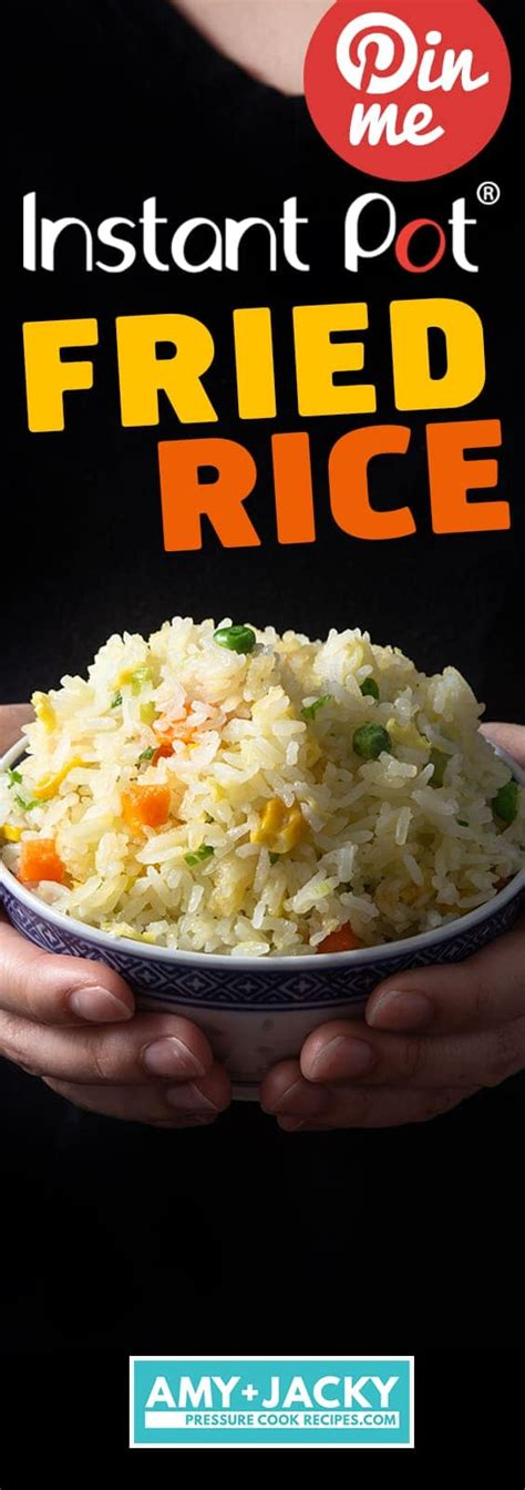 instant pot fried rice easy tasty tested  amy jacky