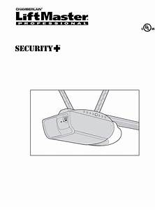 Liftmaster Garage Door Opener 2110 1  3 Hp User Guide