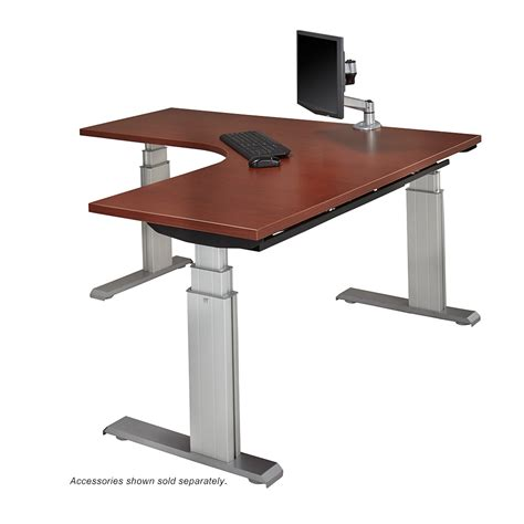 height adjustable sit stand desk newheights elegante xt sit stand l workstation by