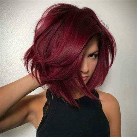 buy ombre red bob hair dark roots short straight side part