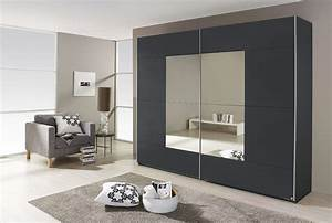 Kleiderschrank Nur Mit Einlegeböden : schwebet renschrank mit spiegel in grau metallic 2 t rig ~ Lateststills.com Haus und Dekorationen