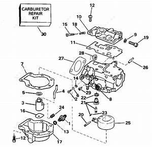 Evinrude 1996 30 - He30rede  Carburetor 20