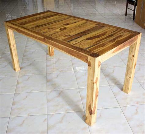 kitchen dining table teak wood inlay carved furniture oak