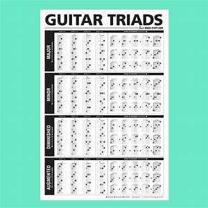 Ultimate Guitar Chord Chart Pdf The Ultimate Triads Guitar Poster 24 Quot X36 Quot Best Music Stuff