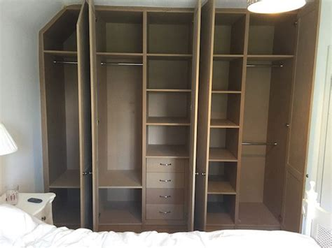 bespoke white egg shell mdf wardrobe