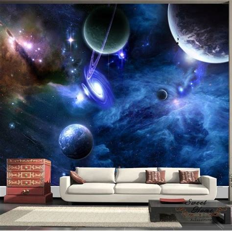 details  universe planet space full wall mural print