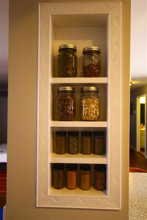 Built In Spice Rack by White Spice Rack Built In Diy Projects