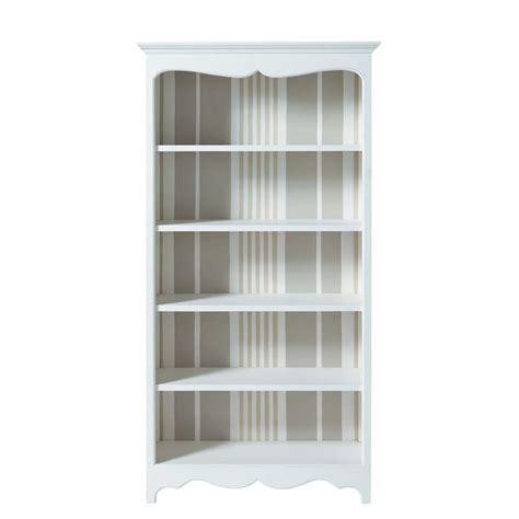 maison du monde bibliotheque biblioth 232 que en bois blanche l 100 cm justine maisons du monde