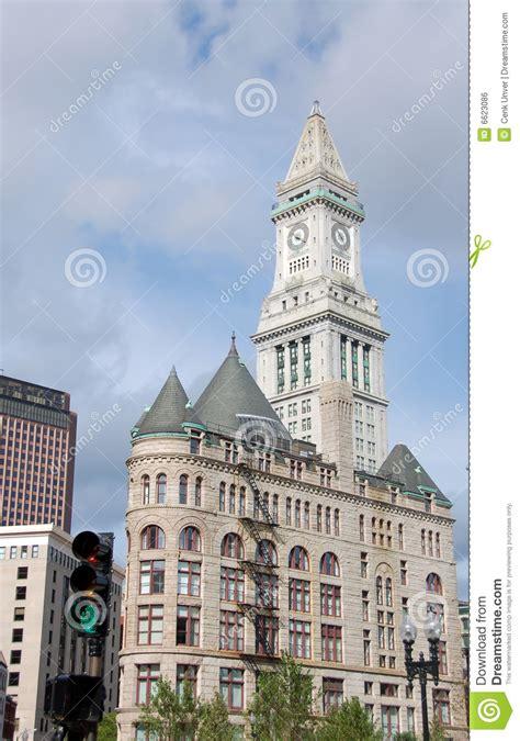 bureau des douanes horloge de bureau de douane de boston image libre de