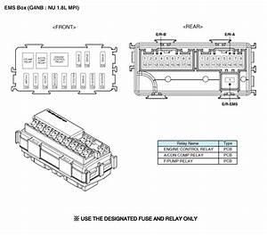 Kia Forte  Relay Box  Engine Compartment  Components