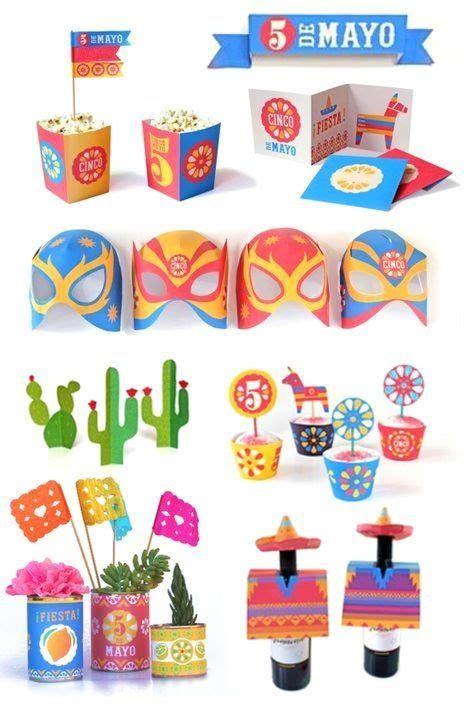 Cinco de Mayo printable crafts DIY party templates ...