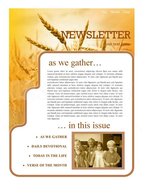 History Of Thanksgiving Newsletter Template Template | Newsletter Templates