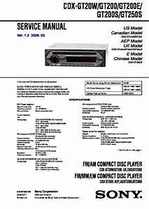 Sony Cdx Gt260mp Wiring Diagram