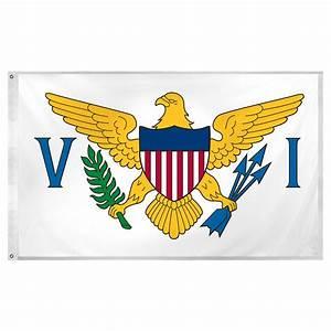 U S Virgin Islands Flag 3ft x 5ft Super Knit Polyester