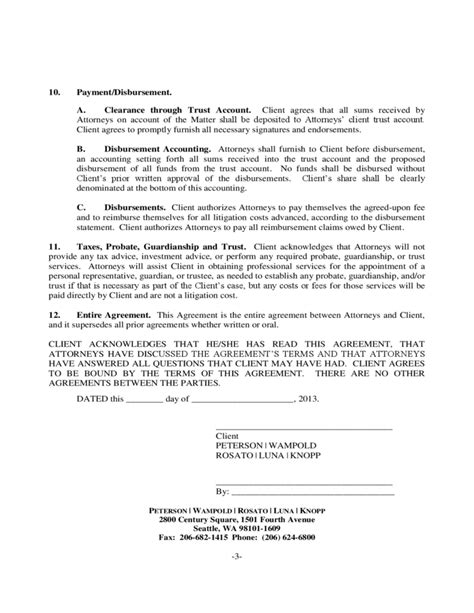 attorney client contingency fee agreement