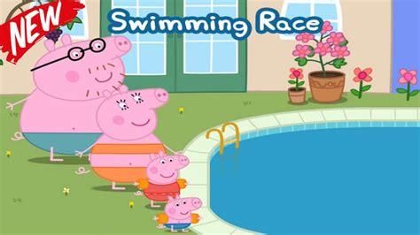 Peppa Pig Swimming Race ☀ Peppa Pig Swimming Pool ☀ Peppa