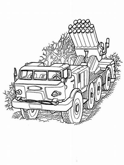 Coloring Army Tanks Military Vehicles Printable Transportation