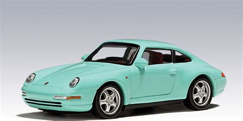 porsche mint green autoart porsche 993 coupe mint green 20121 in 1 64