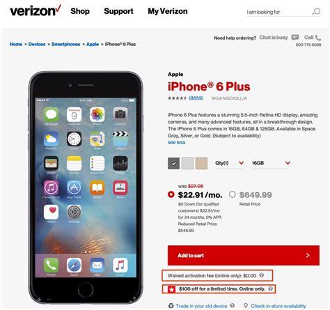 verizon smartphone deals verizon memorial day take 100 iphone 6