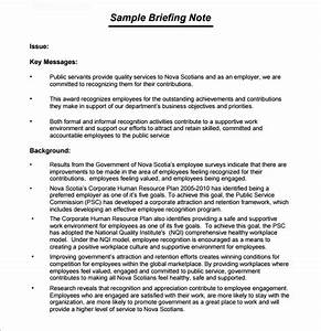 how to write a briefing paper for university
