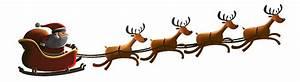 Santa Sleigh Flying Png