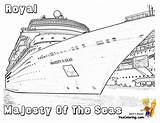 Cruise Ship Coloring Seas Majesty Colouring Yescoloring Pages Ships Sheets Spectacular Cruises Printables Boys sketch template