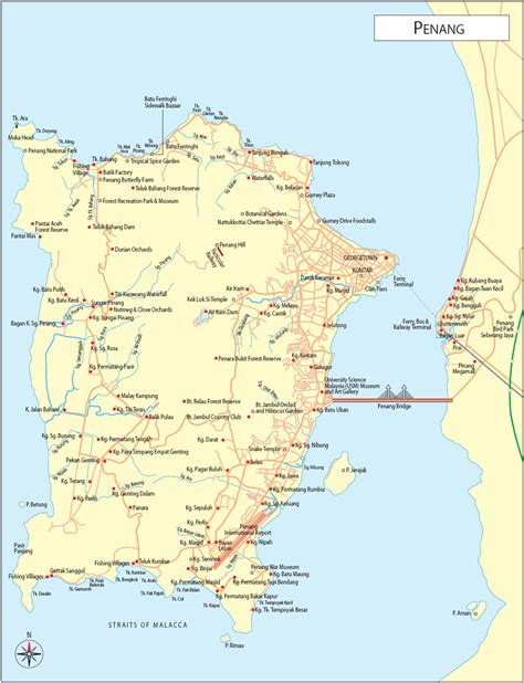 penang maps malaysia travel guide