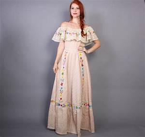 60s mexican wedding dress embroidered from lucky vintage With embroidered mexican wedding dress