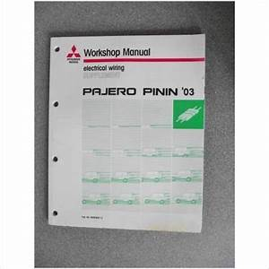 Mitsubishi Pajero Pinin Wiring Manual Supplement 2003