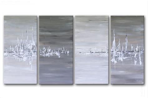 chambre gris tableau moderne quadriptyque rectange gris terre d 39 ombre beige