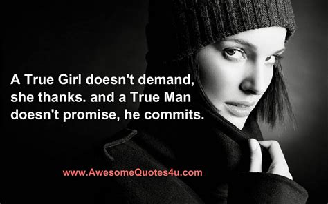 Awesome Quotes A True Girl