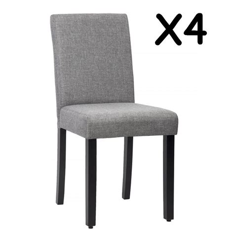 dining chairs fabric new set of 4 grey design modern fabric upholstered 3326