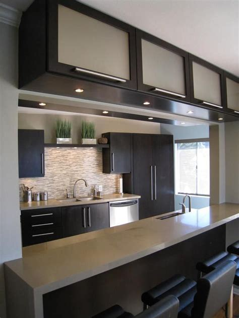 modern glass kitchen cabinets contemporary kitchen cabinets for a posh and sleek finish 7623