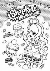 Shopkins Fun Coloring Pages sketch template