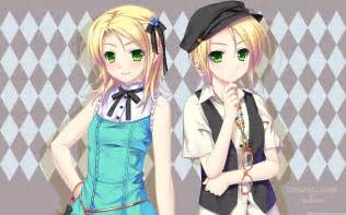 Anime Twins with Blonde Hair