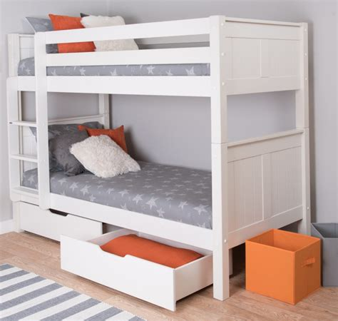 bunk beds with storage classic bunk bed with underbed drawers by stompa 18781
