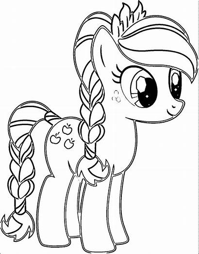 Pony Coloring Drawings Pages Drawing Cartoon Unicorn