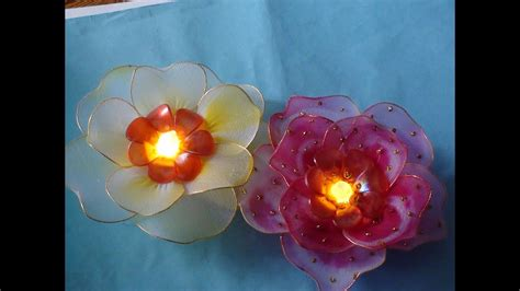 stocking flower  light tutorial youtube