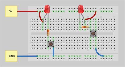 breadboard wiring diagram how to use a breadboard learn sparkfun