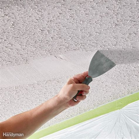 tips    remove popcorn ceiling faster  easier