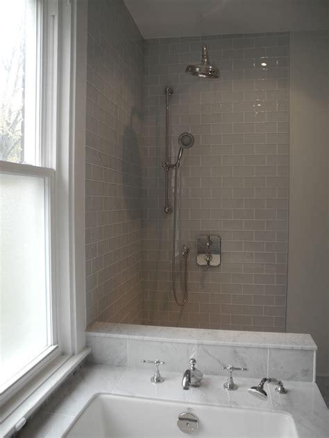 Grey Subway Tile Bathroom Gray Glass Subway Tile Bathroom Traditional With